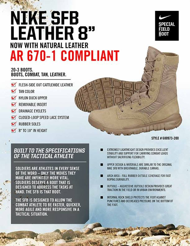 48f867e9c95 AR 670-1 Compliant, Nike Leather Special Field Boot To Hit Shelves ...