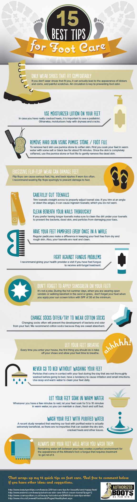 Top 15 Foot Care Tips