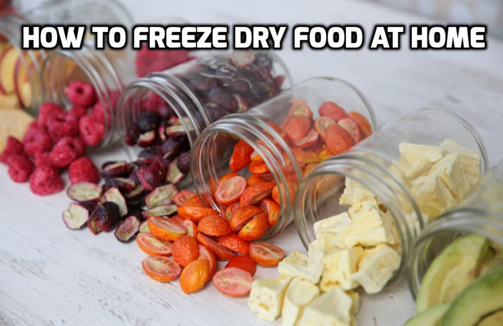 How To Freeze Dry Food Without A Machine